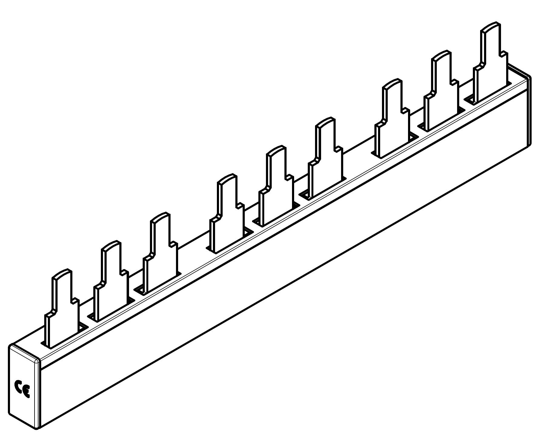 1 Stk ARROW II 000-NH-Trenner-Verschienung 3-fach BS900193-A