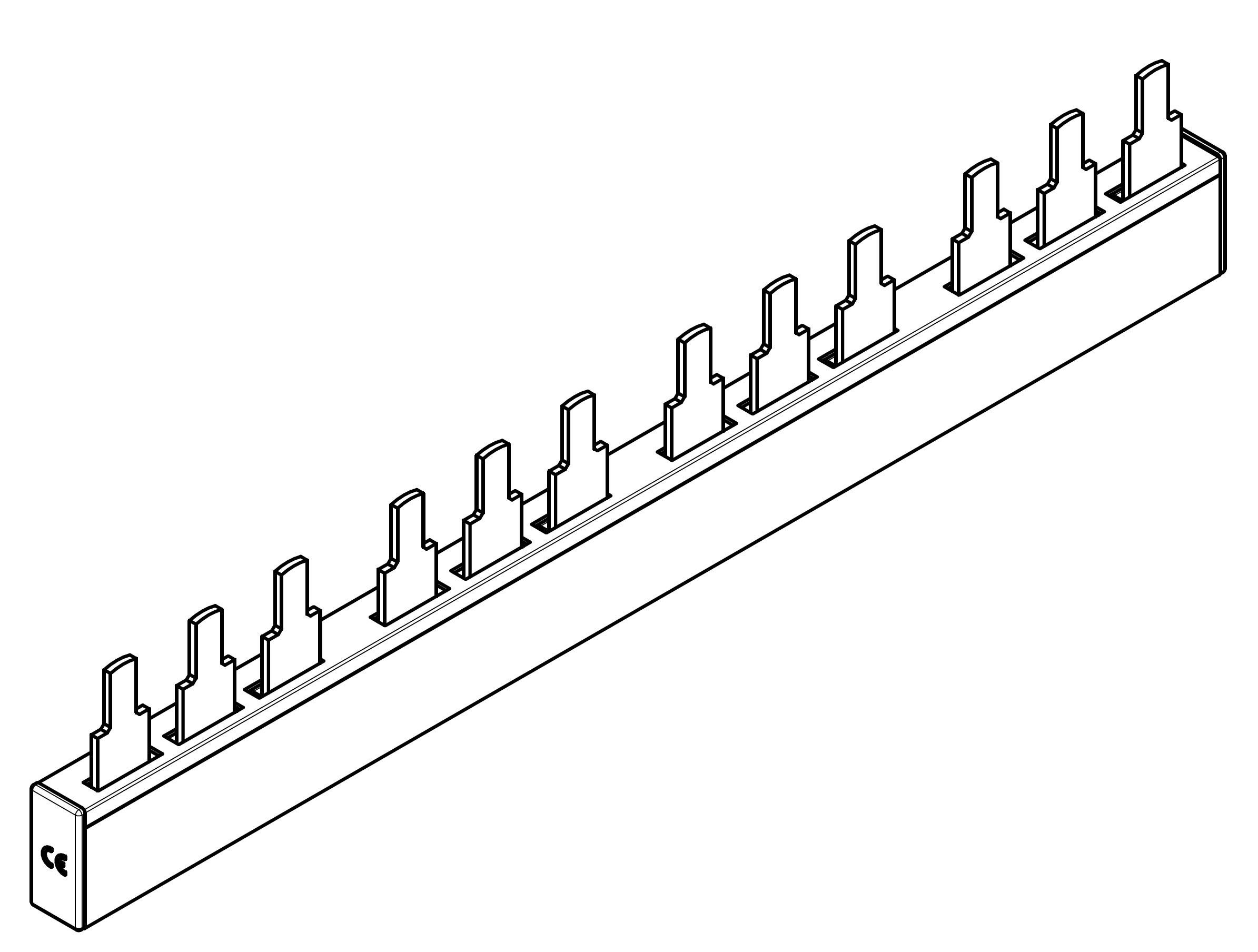 1 Stk ARROW II 000-NH-Trenner-Verschienung 4-fach BS900194-A