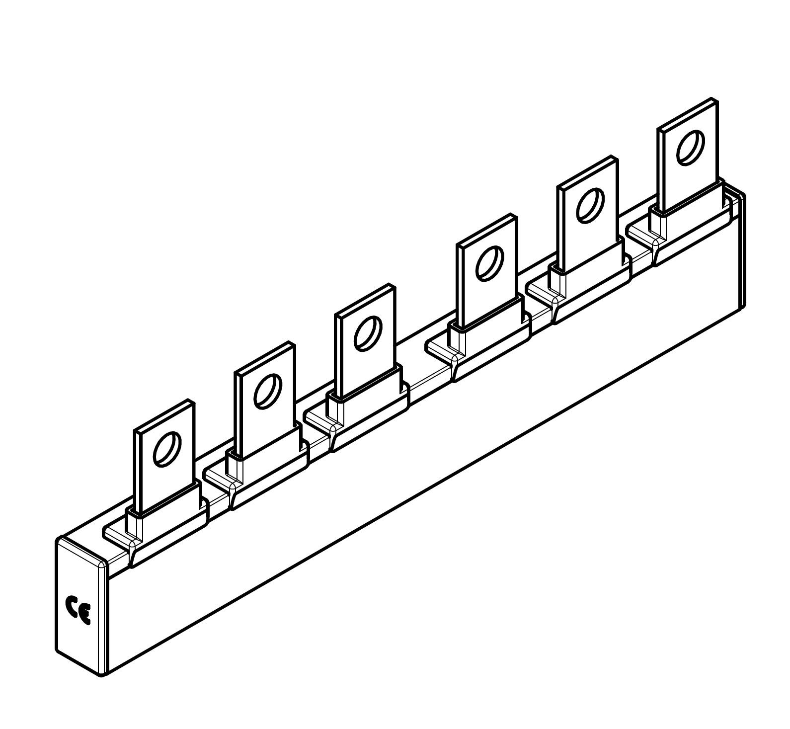 1 Stk ARROW II 00-NH-Trenner-Verschienung 2-fach BS900312--