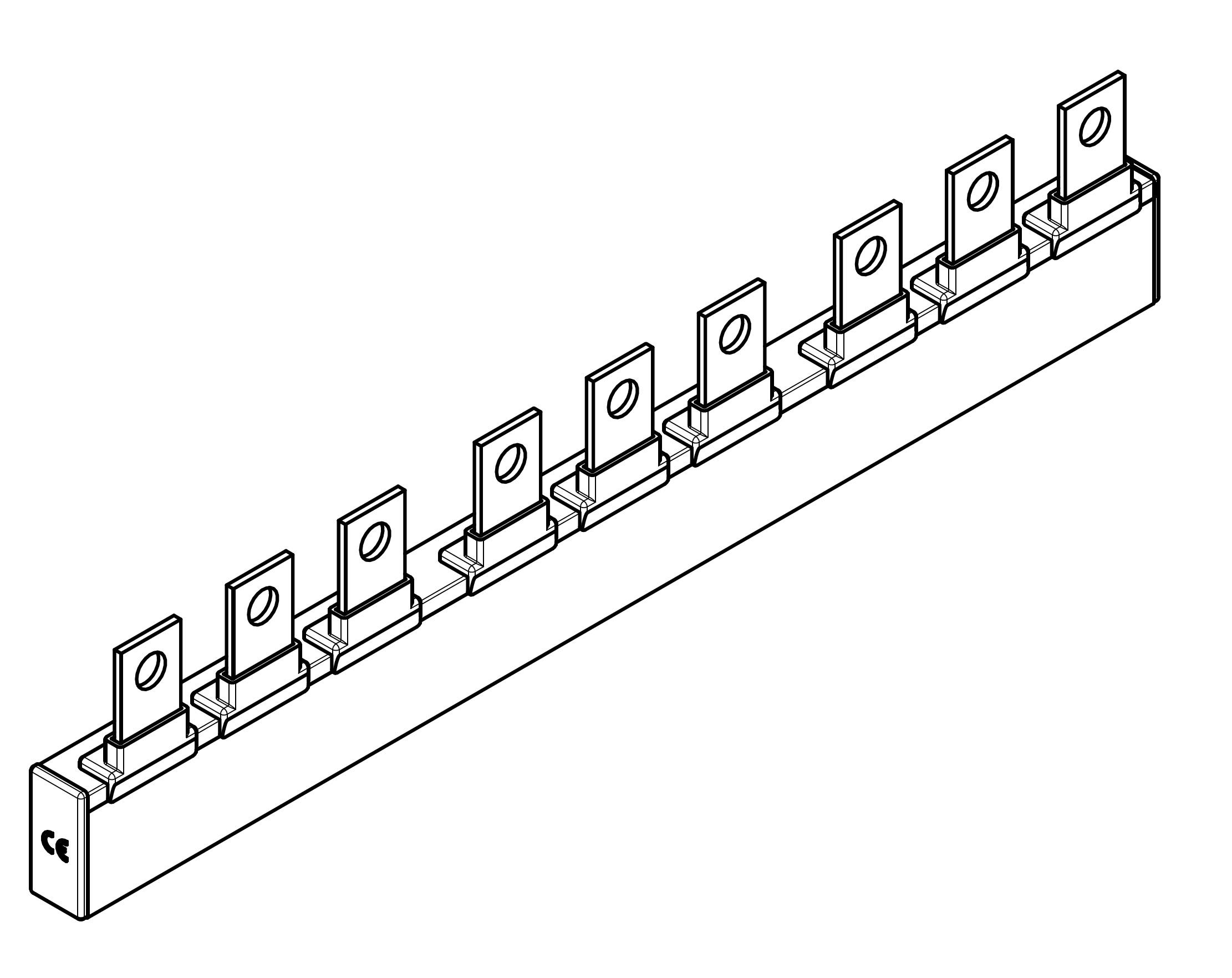 1 Stk ARROW II 00-NH-Trenner-Verschienung 3-fach BS900313--