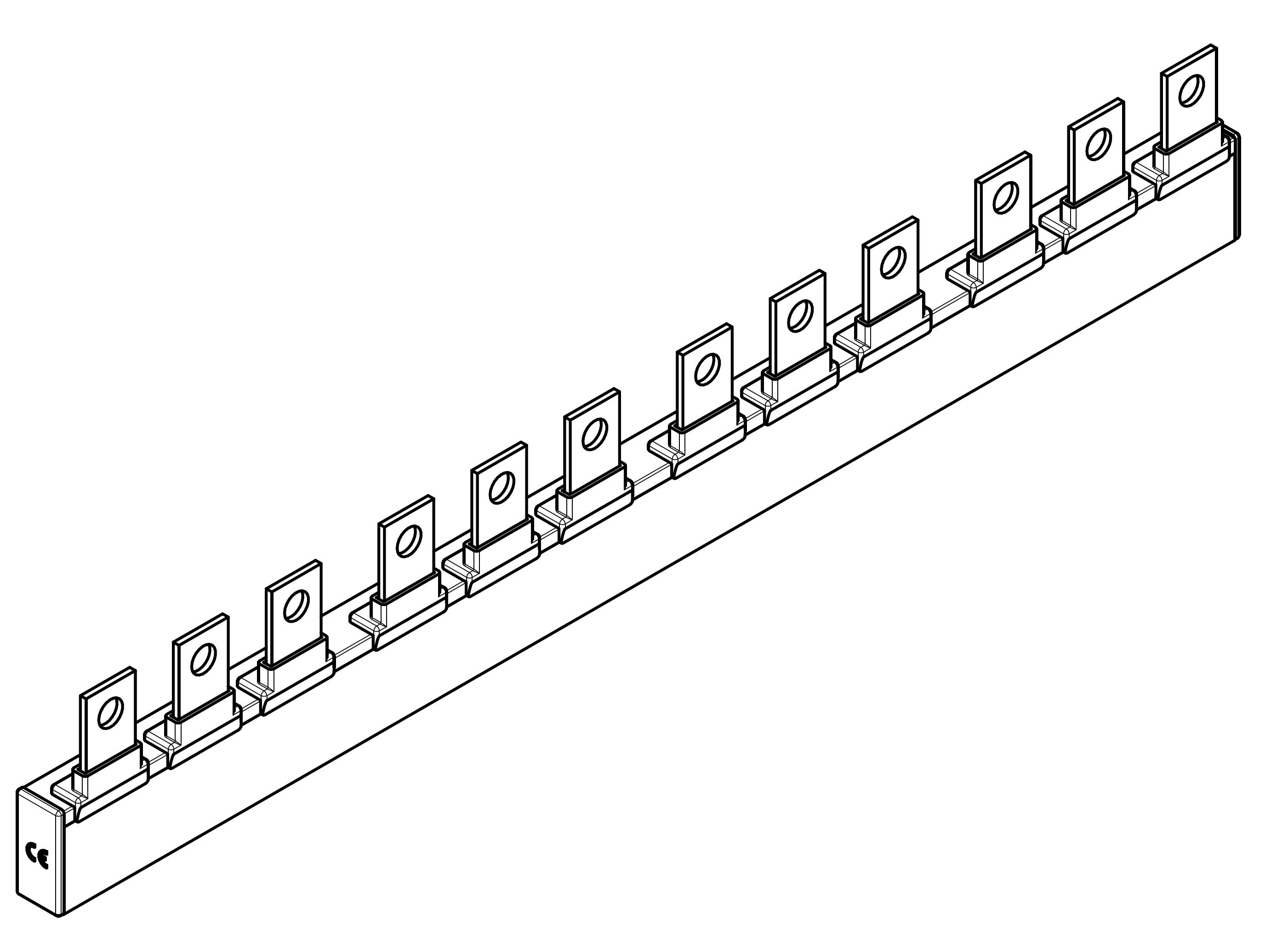 1 Stk ARROW II 00-NH-Trenner-Verschienung 4-fach BS900314--