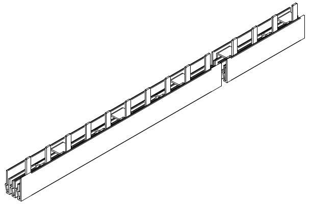 1 Stk Stiftverschienung 3-polig, 10mm²,N-Leiter, blau isoliert, 1m BS990116ME