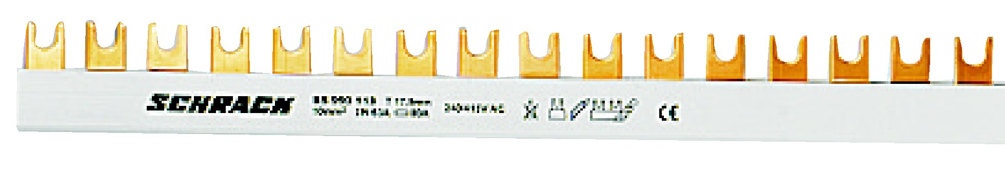 1 Stk Gabelverschienung 4-polig 16mm², L1/L2/L3/N, 1m lang BS990122--