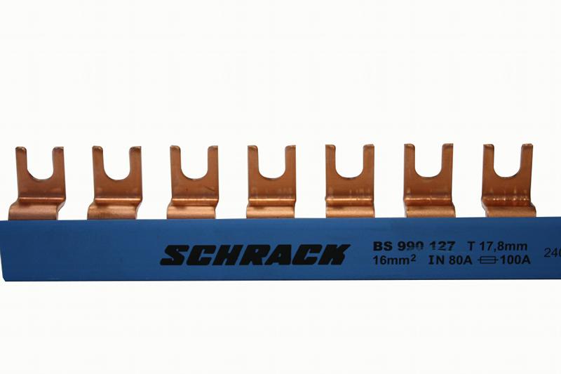 1 Stk Gabelverschienung N-Leiter, blau, 16mm², isoliert, 1m BS990127--