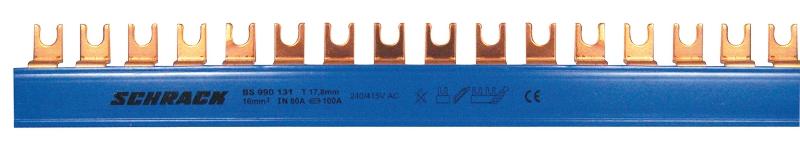 1 Stk Gabel-Einzelverschienung U-4-N 16mm², 1m BS990131--