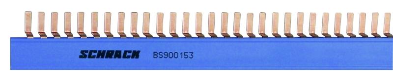 1 Stk Stiftverschienung N, Stiftbreite 4mm, 16mm², TE=9mm, 1m BS990153--