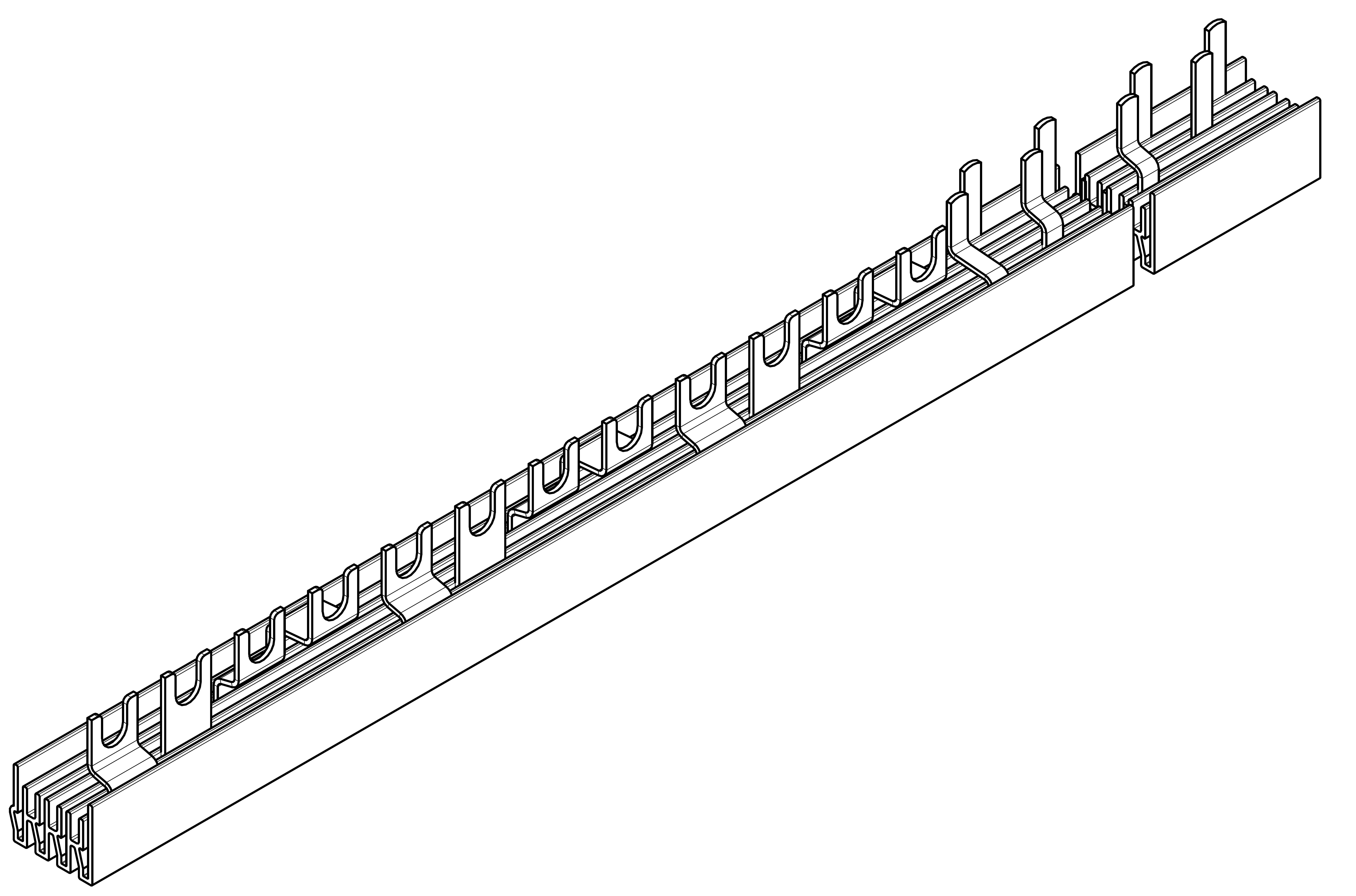 1 Stk Verschienung Compact 3 x FI 4-polig,18 x LS 1+N auf 1TE BS990162--