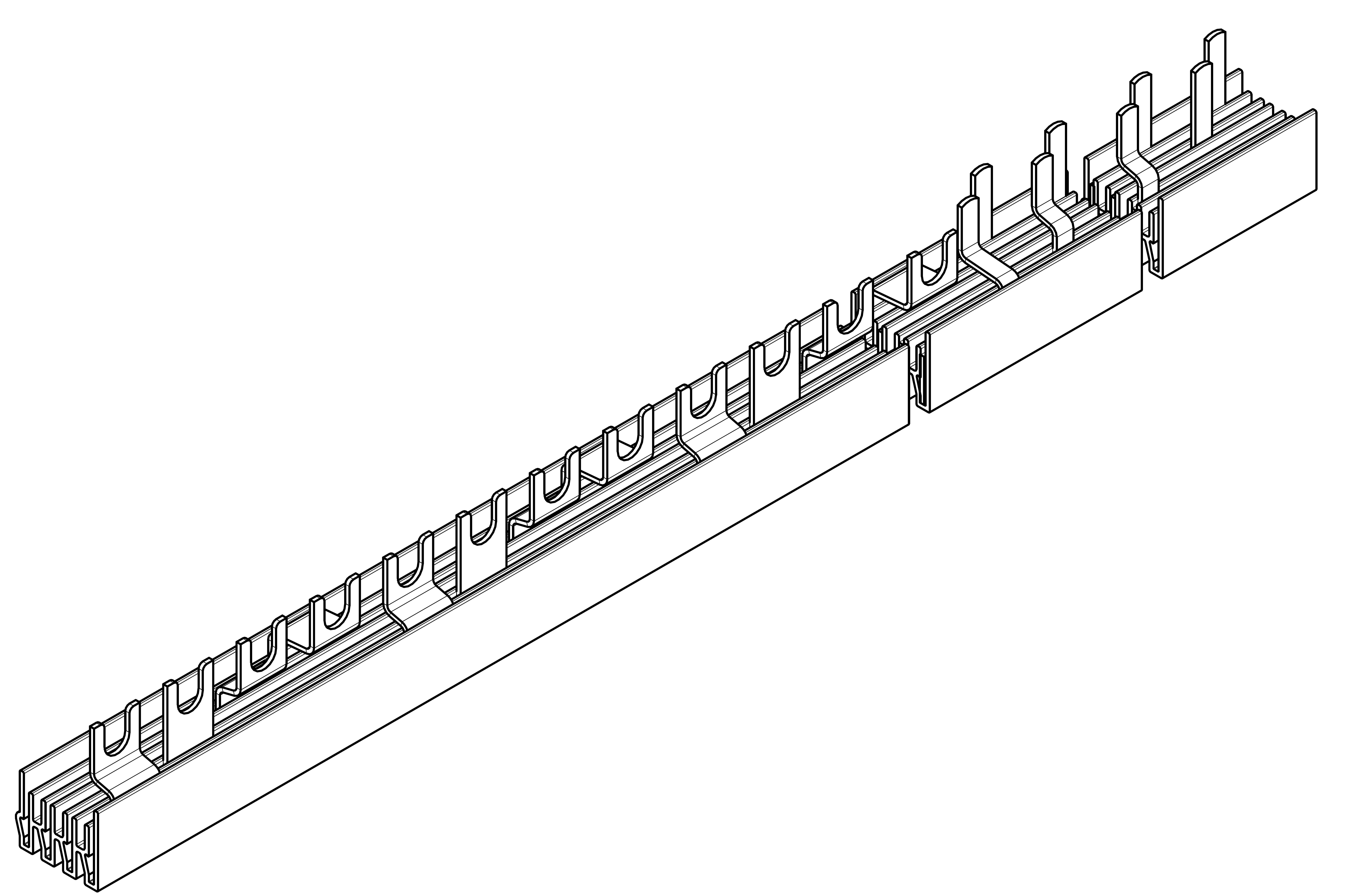 1 Stk Verschienung Compact 4 x FI 4-polig,12 x LS 1+N auf 1TE BS990163--
