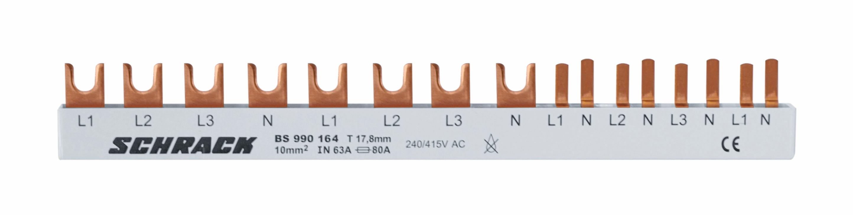 1 Stk Versch.schmal 4-pol. 1xFI 4-polig,1xSI 4-polig,4xSI 1+N 12TE BS990164--