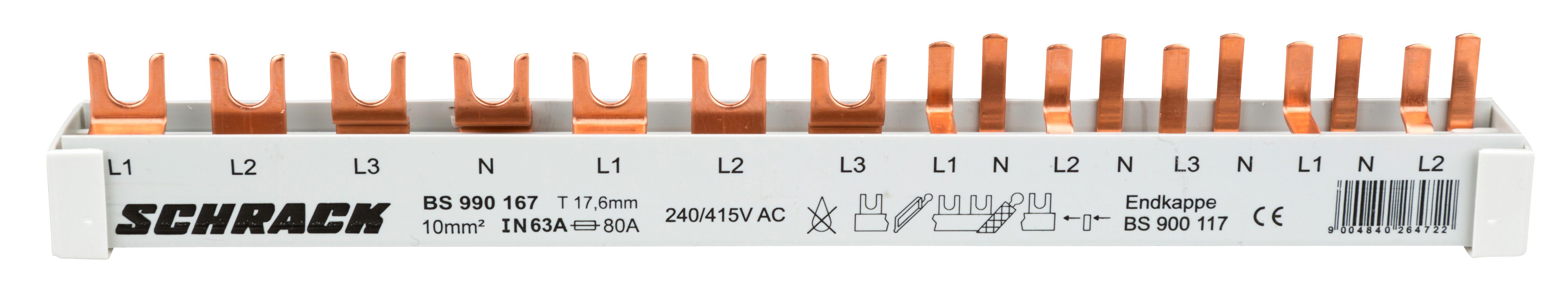 1 Stk Versch.schmal 4-pol. 12TE, 1xFI 4-p.,1xSI 3-p.,5xSI1+N/1TE BS990167--