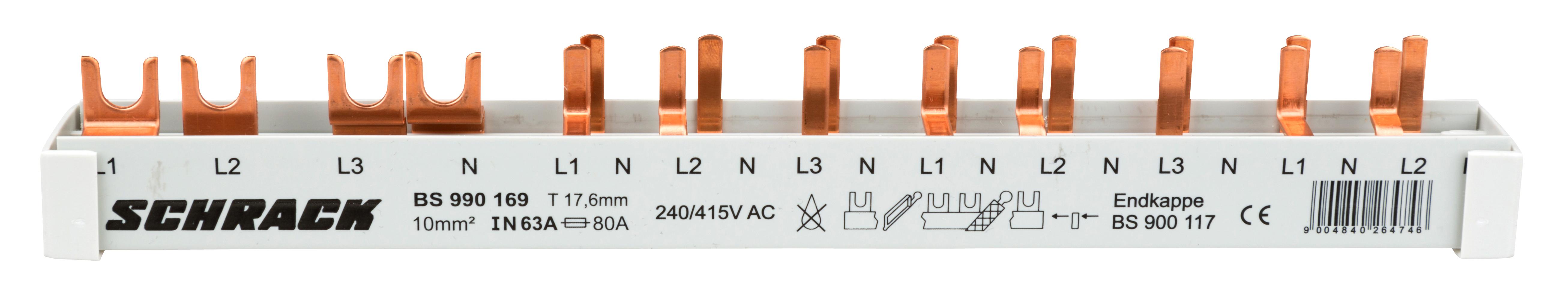 1 Stk Versch.schmal 4-pol. 1xFI 4-polig,8xSI1+N 12TE BS990169--