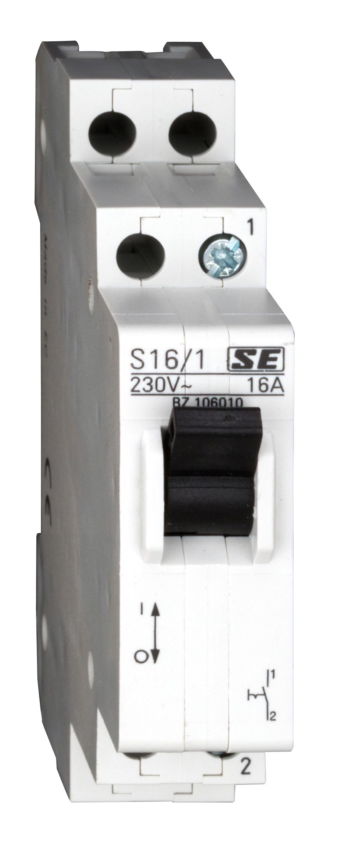 1 Stk Reiheneinbau-Ausschalter, 1 Schließer, 16A BZ106010--