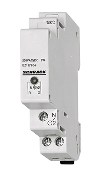 1 Stk Reiheneinbau-Einzelleuchte LED 110-240VAC/DC, rot/grün BZ117904--