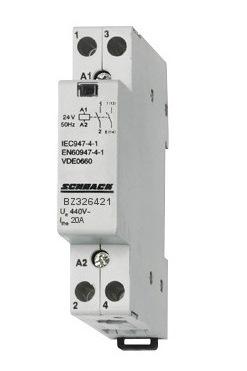 1 Stk Installationsschütz 20A, 1 Schließer + 1 Öffner, 24VAC BZ326421--