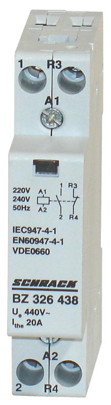 1 Stk Installationsschütz 20A, 1S+1Ö, 230VAC 1TE BZ326438--