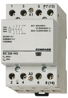 1 Stk Installationsschütz 40A, 4S, 230VAC 3TE BZ326442--