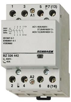 1 Stk Installationsschütz 40A, 4S, 24VAC 3TE BZ326443--