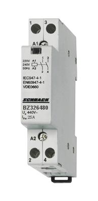 1 Stk Installationsschütz 25A, 2Ö, 24VAC 1TE BZ326480--