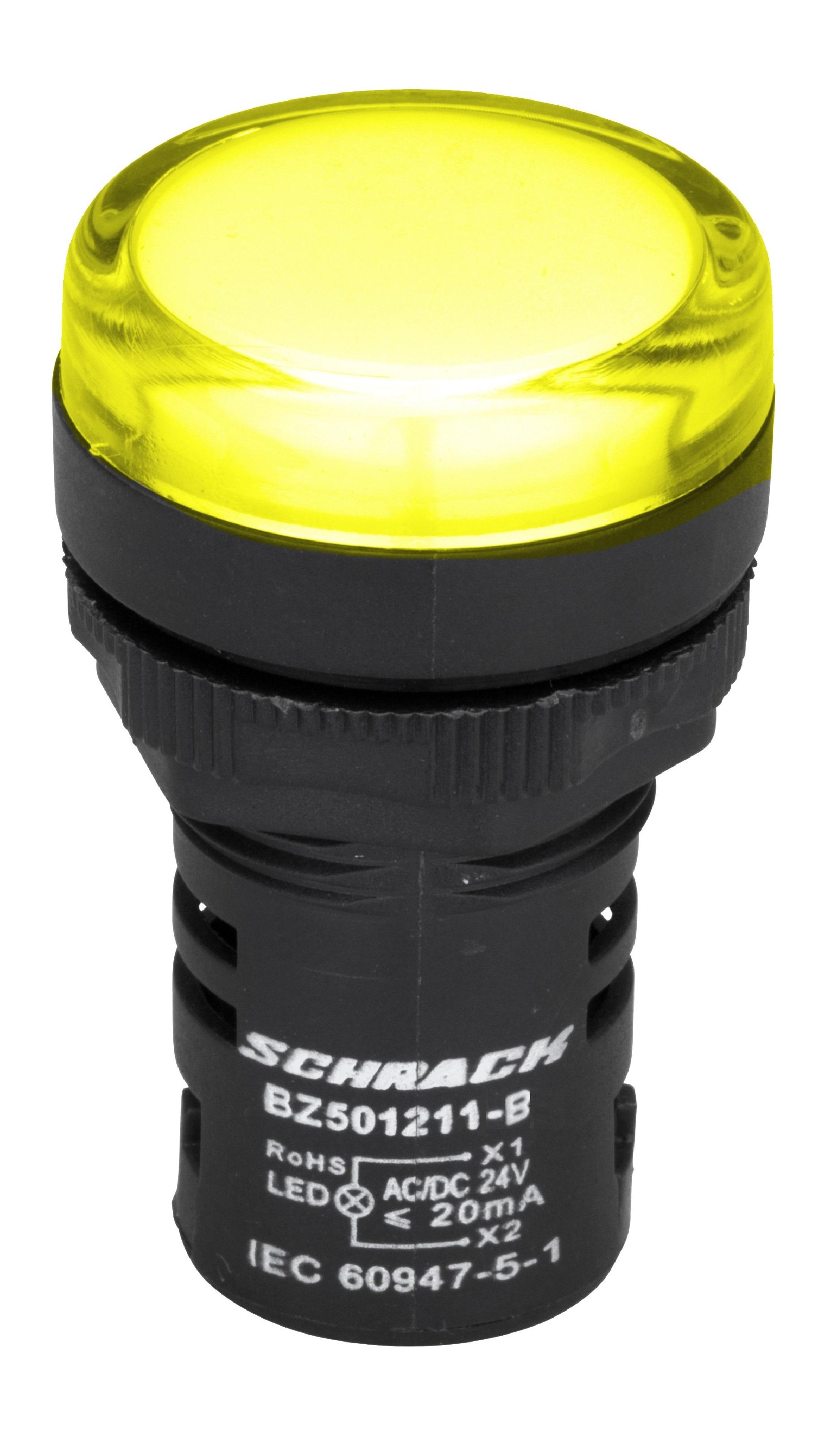 1 Stk LED-Leuchtmelder Monoblock 24V-AC/DC gelb BZ501211-B