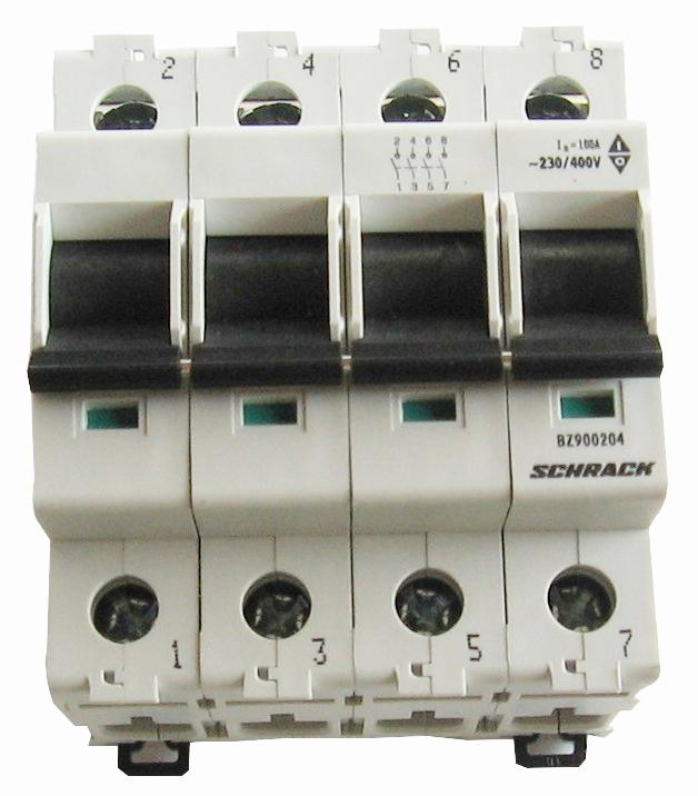 1 Stk Hauptlasttrennschalter, isoliert, 100A, 4-polig BZ900204--