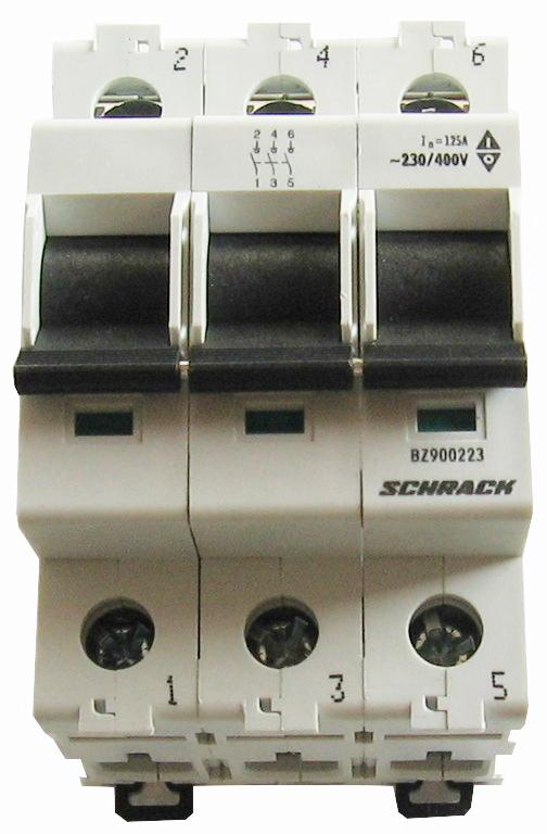 1 Stk Hauptlasttrennschalter, isoliert, 125A, 3-polig BZ900223--