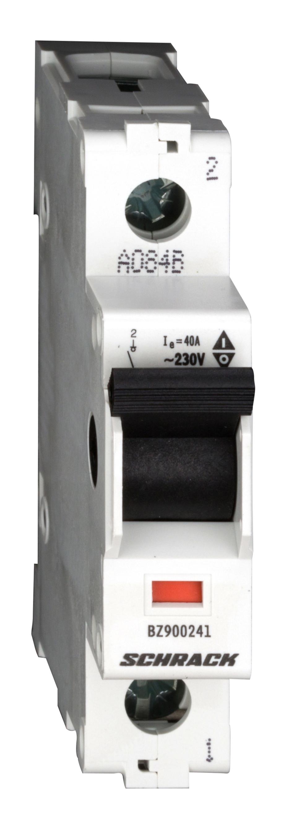 1 Stk Hauptlasttrennschalter, isoliert, 40A, 1-polig BZ900241--