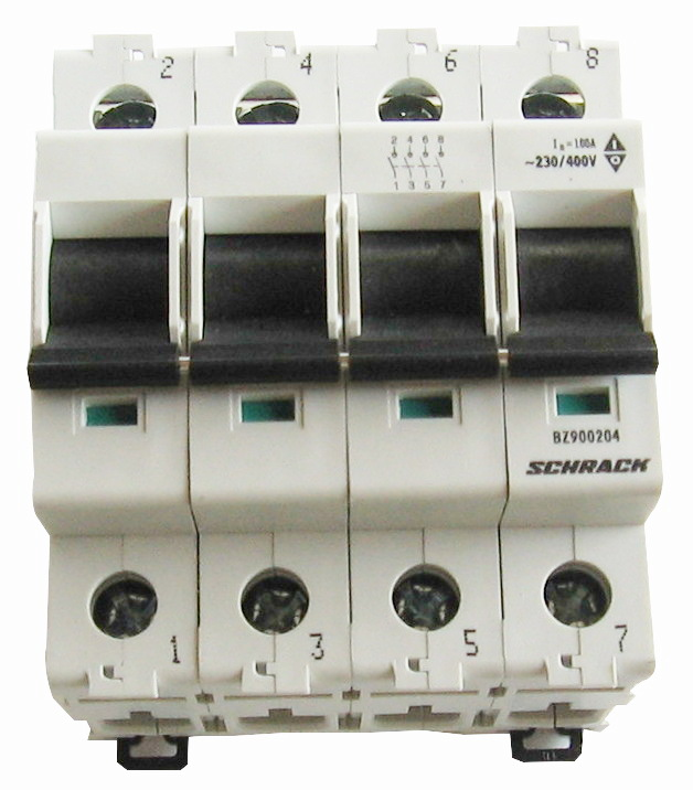1 Stk Hauptlasttrennschalter, isoliert, 40A, 4-polig BZ900244--