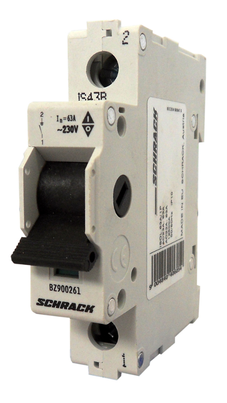 1 Stk Hauptlasttrennschalter, isoliert, 63A, 1-polig BZ900261--