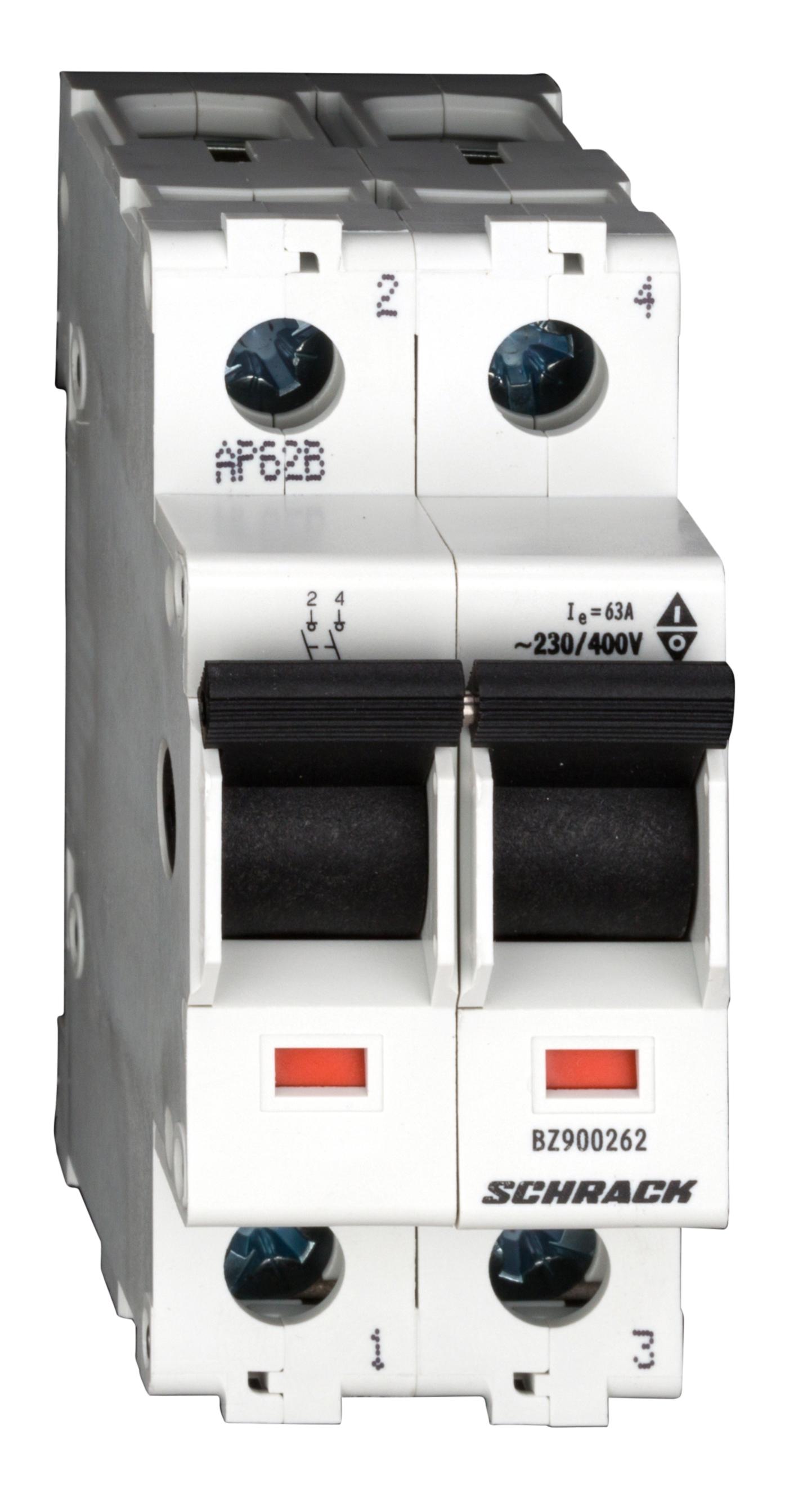 1 Stk Hauptlasttrennschalter, isoliert, 63A, 2-polig BZ900262--