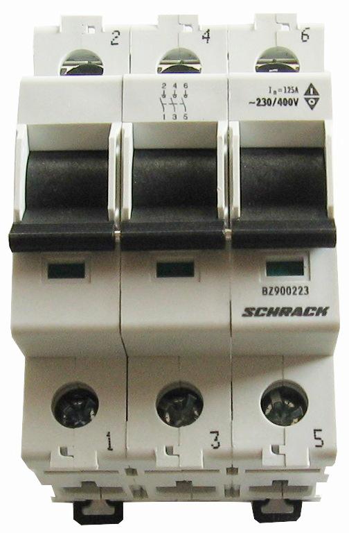 1 Stk Hauptlasttrennschalter, isoliert, 63A, 3-polig BZ900263--