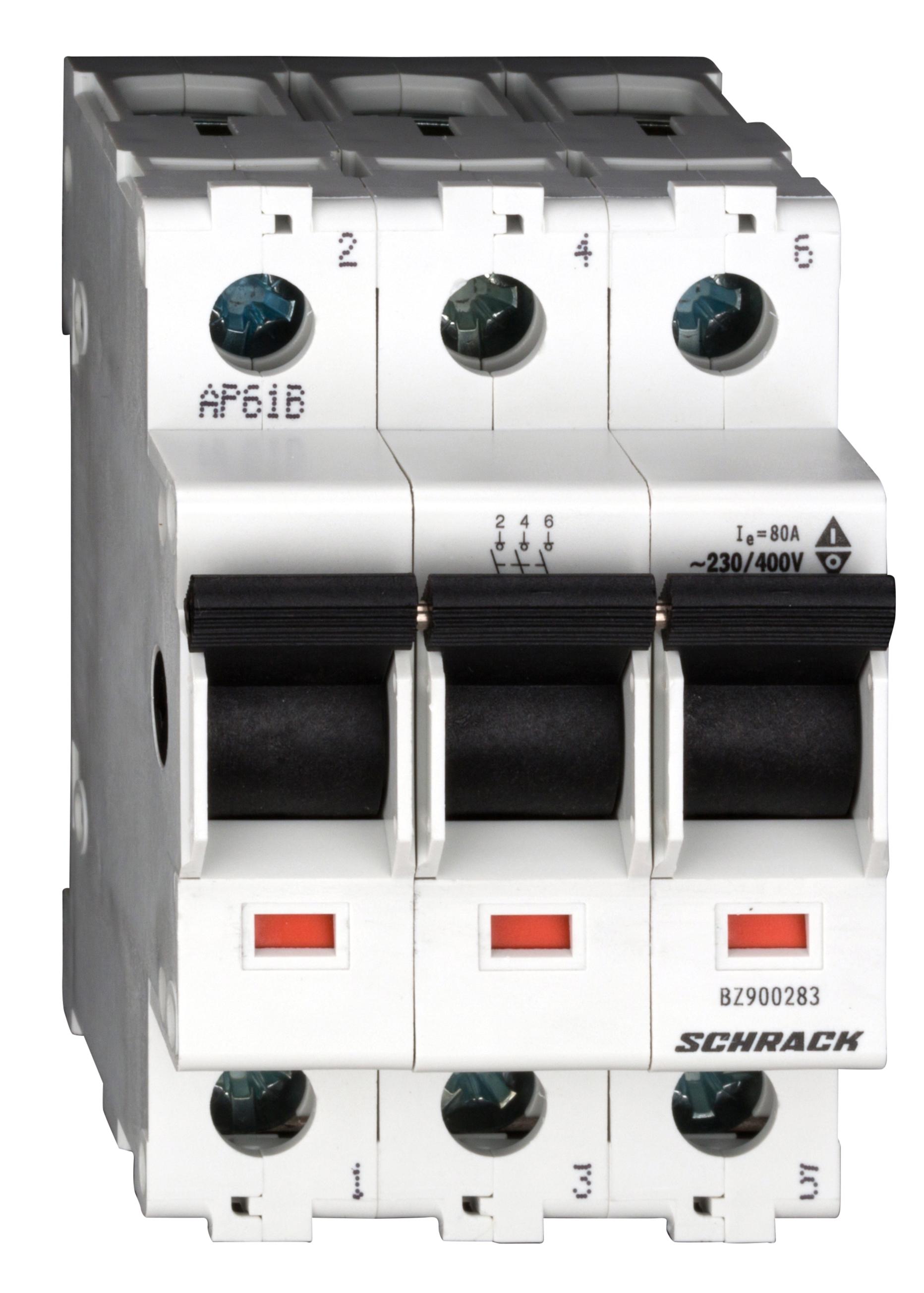 1 Stk Hauptlasttrennschalter, isoliert, 80A, 3-polig BZ900283--