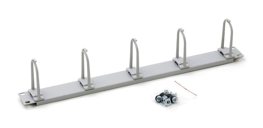 1 Stk 19 Kabelführungspanel, 5 große Ringe 40x83mm, 1HE, RAL7035 DBK14805--