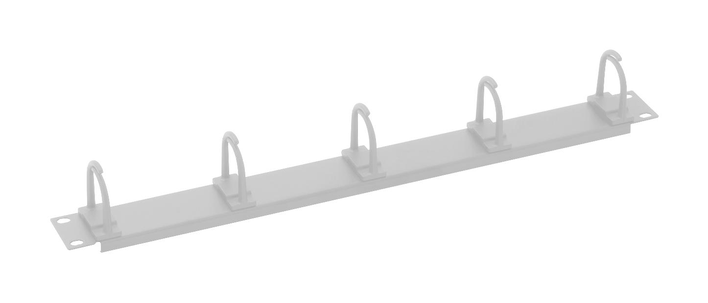1 Stk 19 Kabelführungspanel, 5 kleine Ringe, 40x53mm, 1HE,RAL7035 DBS14805--