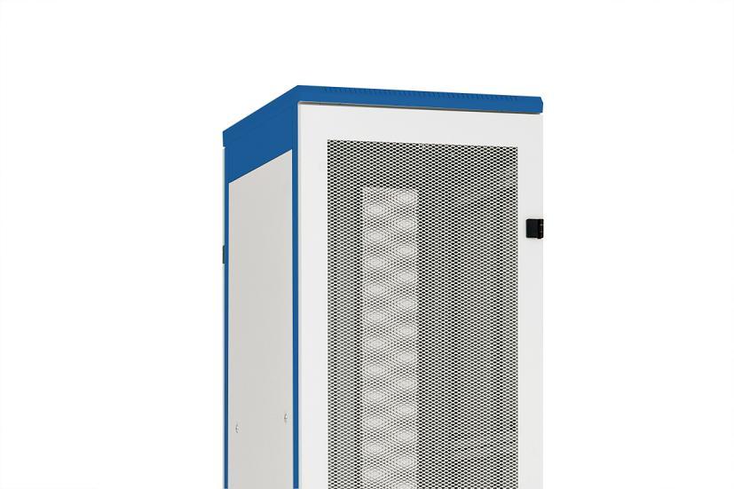 1 Stk Metall-Tür perforiert 80% DS/DSZ/DSS(IP30) 45HE,B600,RAL7035 DSRT4561--