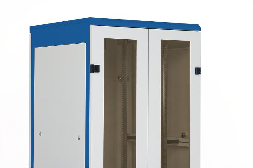 1 Stk Doppel-Tür Glas für DS/DSZ/DSS(IP30) 45HE, B=800, RAL7035 DSRT4587--