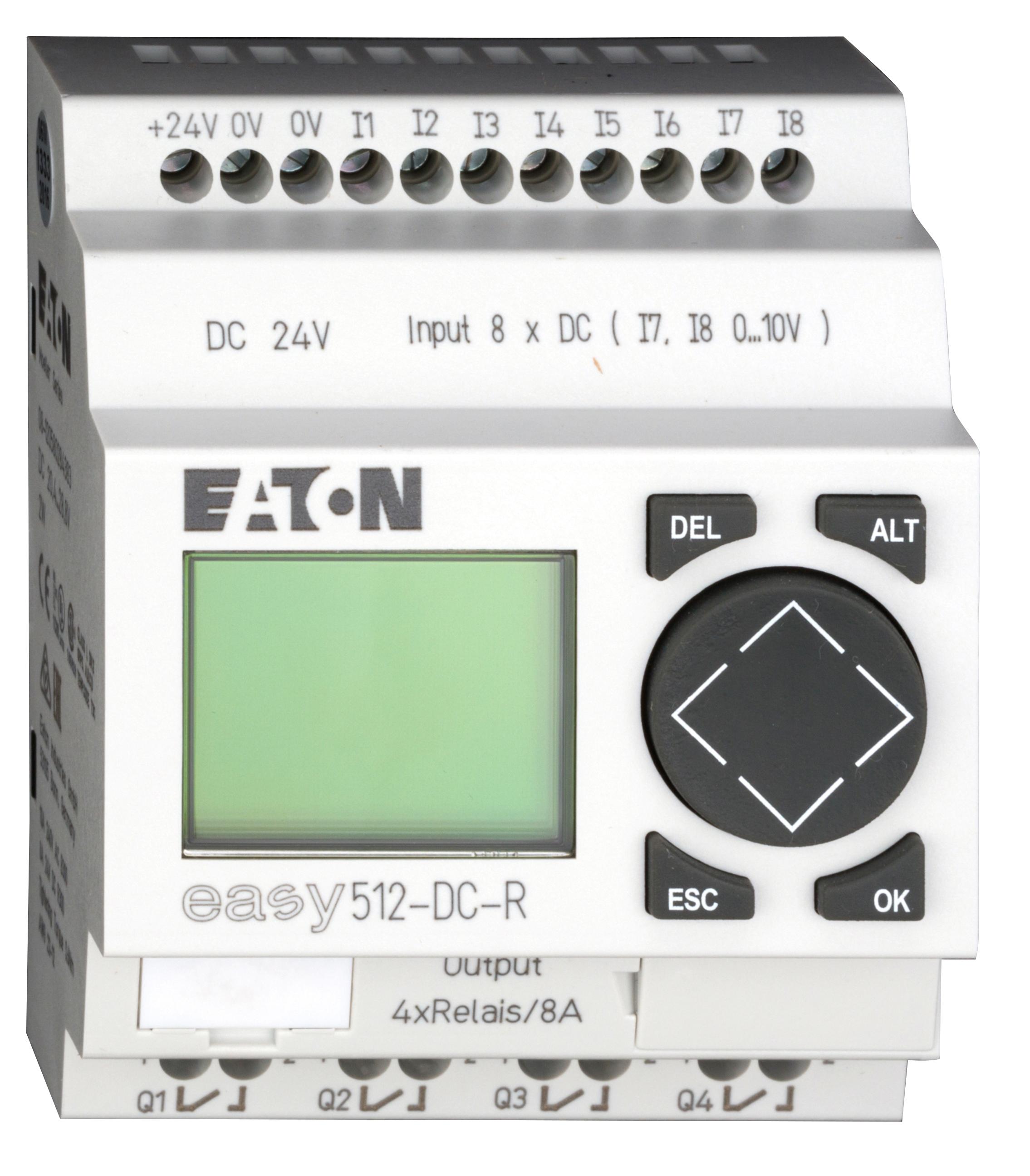 1 Stk EASY512DCR-Steuerrelais,24VDC, 2W, 8Ein-digital, 4Aus-Relais EA274108--