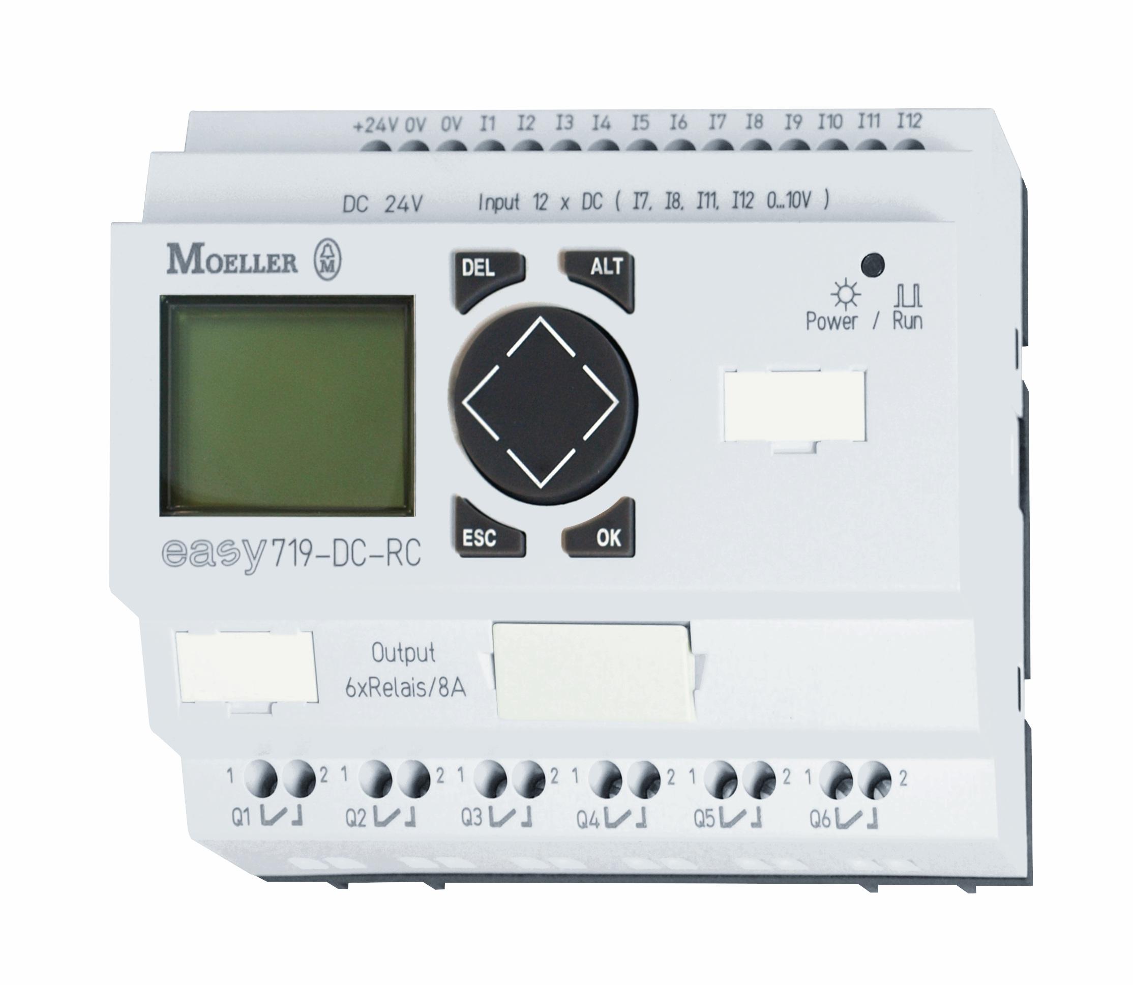 1 Stk EASY719DCRC-Steuerrelais,24VDC, 3,5W,12E-dig,6Aus-Relais,Uhr EA274119--