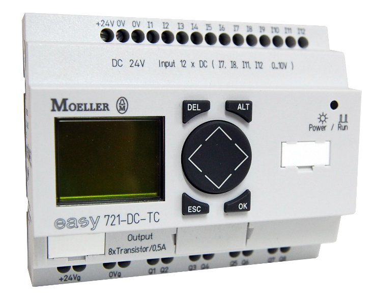 1 Stk EASY721DCTC-Steuerreais,24VDC,3,5W,12E-dig,8A-Transistor,Uhr EA274121--