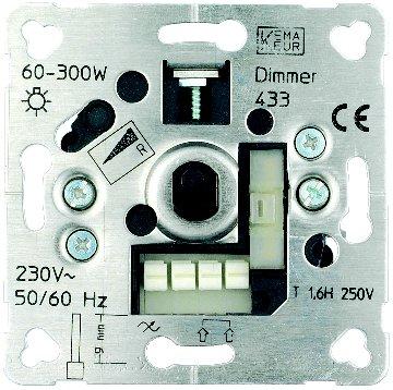 1 Stk Dimmereinsatz 20-315W/VA, RC EHAB20315W