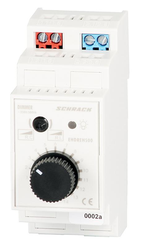 1 Stk Reiheneinbau-Drehdimmer, 500VA, Universal EHDREH500-