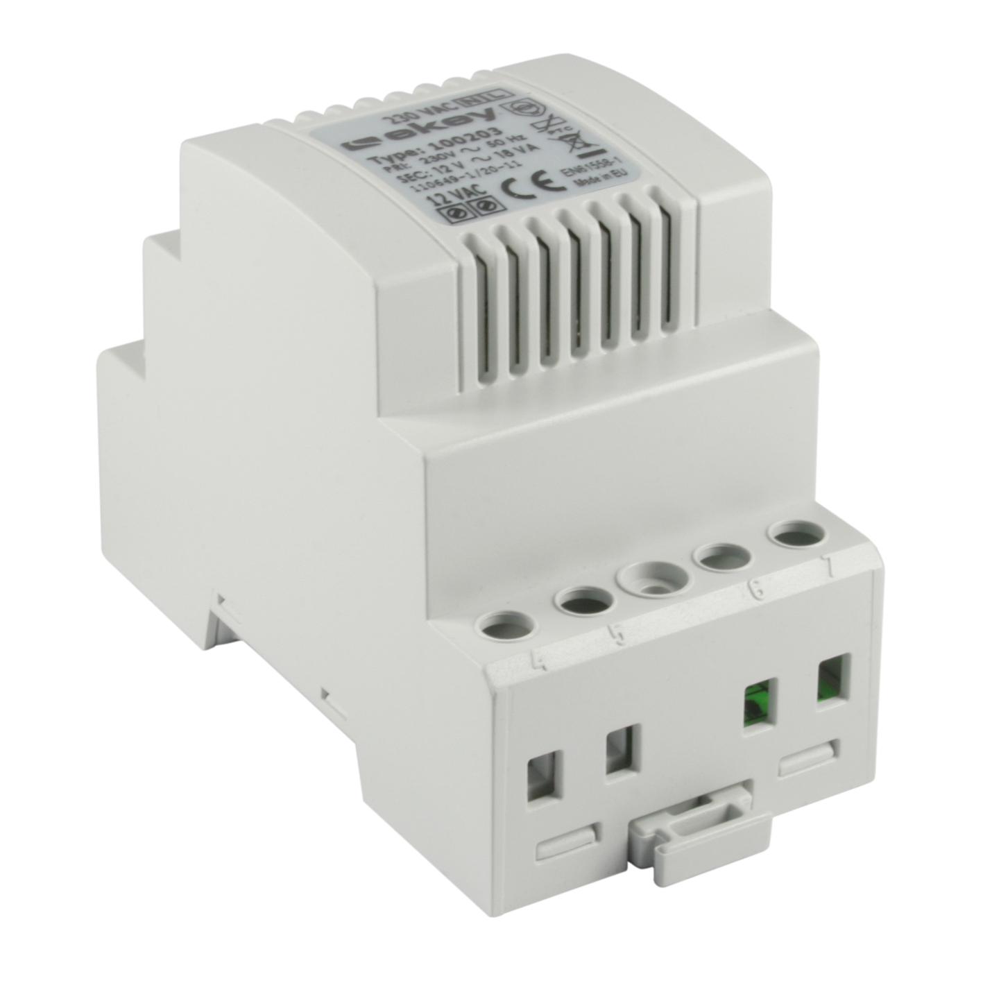1 Stk Netzteil Ausgang: 12VAC, Leistung: 1,5A, Reiheneinbau 3 TE EK100203--