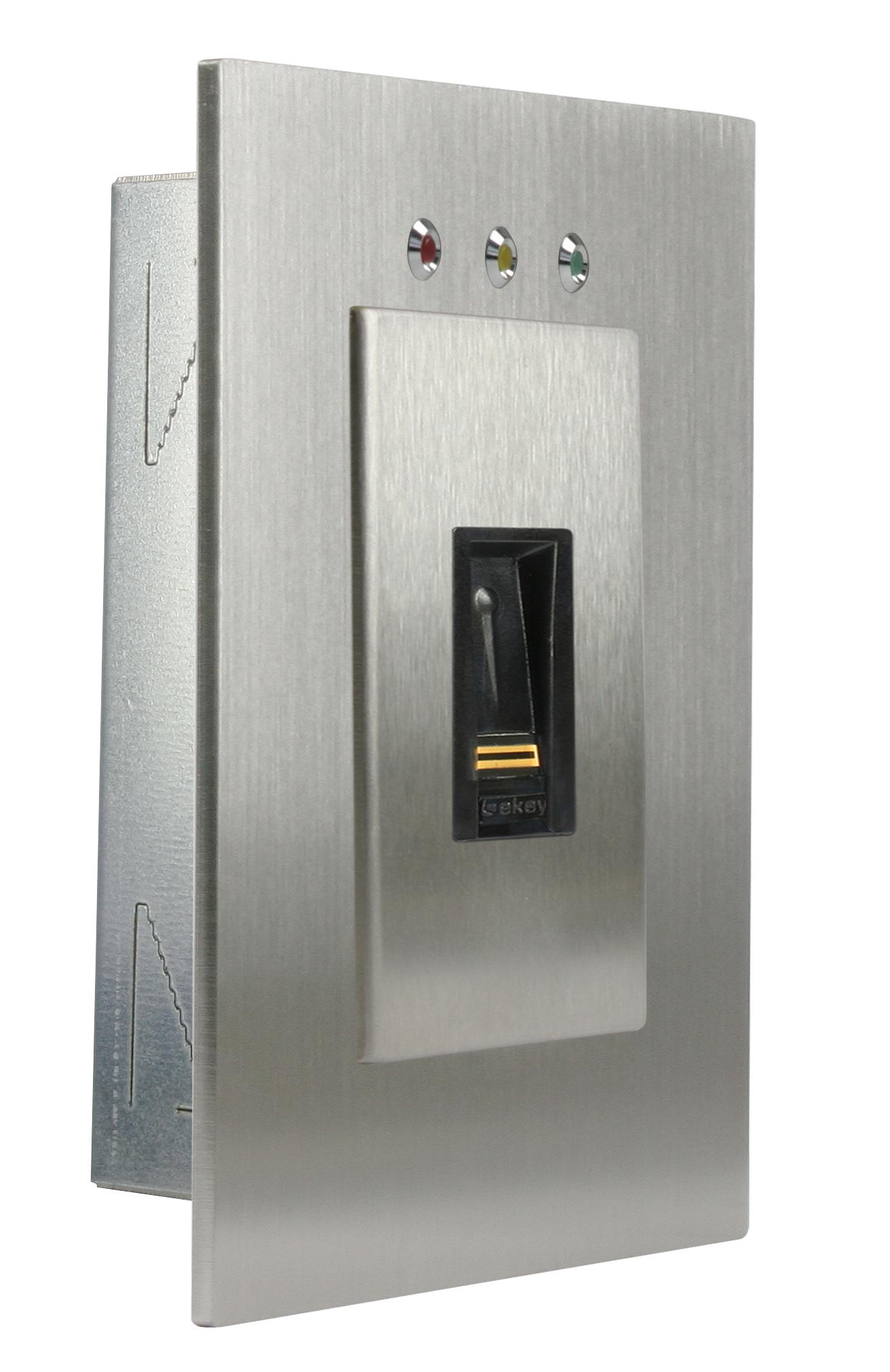 1 Stk Wandeinbauset mit Alarm LED für Fingerscanner Integra EK101301--