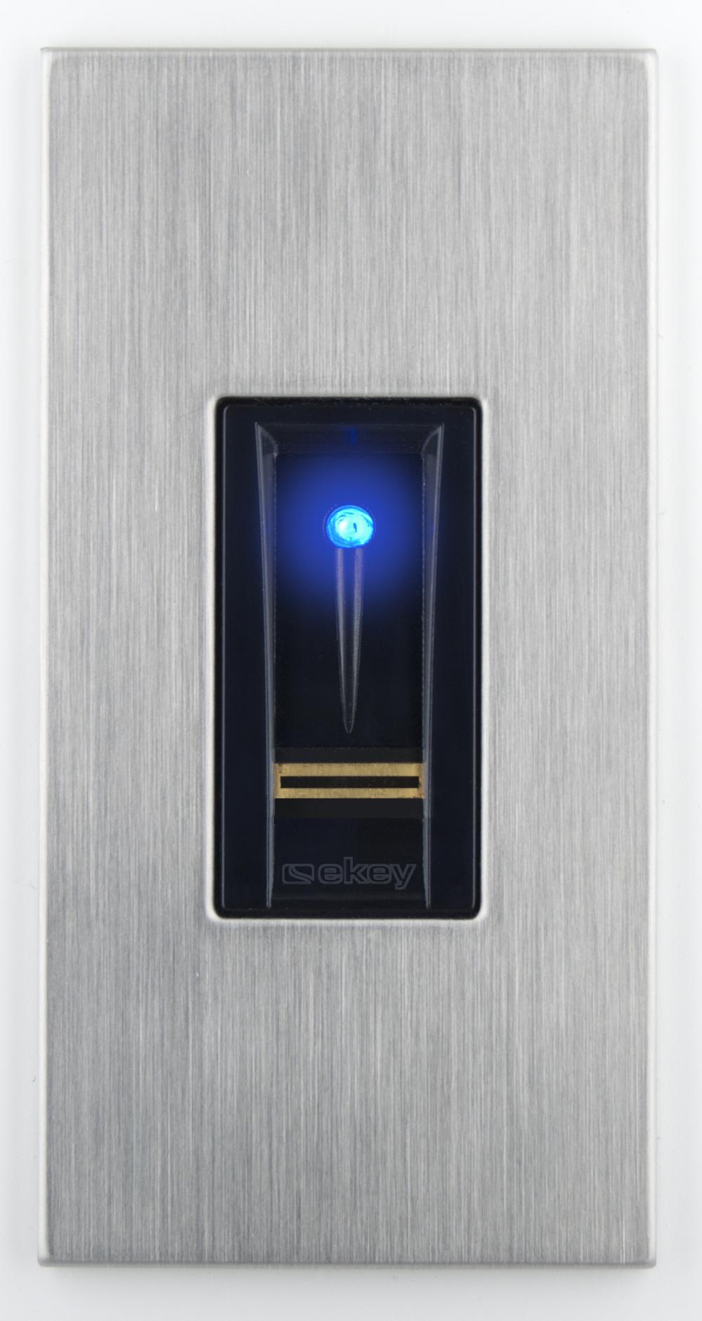1 Stk ekey home Fingerscanner Integra 2.0 mit Dekor Edelstahl EK101326--