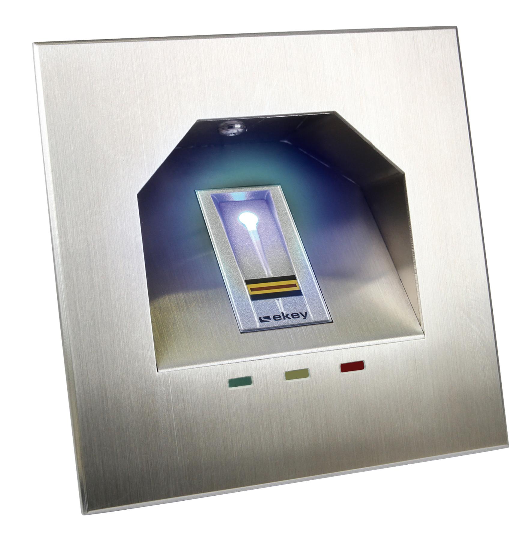 1 Stk Einbaurahmen mit LED für Fingerscanner UP E, Edelstahl EK101511--