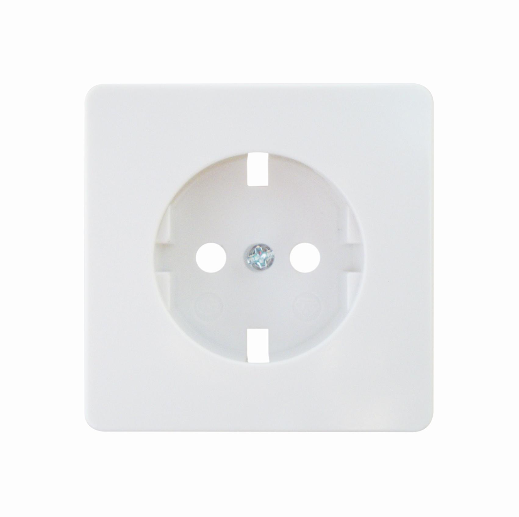 1 Stk Zentralplatte für Steckdose, reinweiß EL083134--