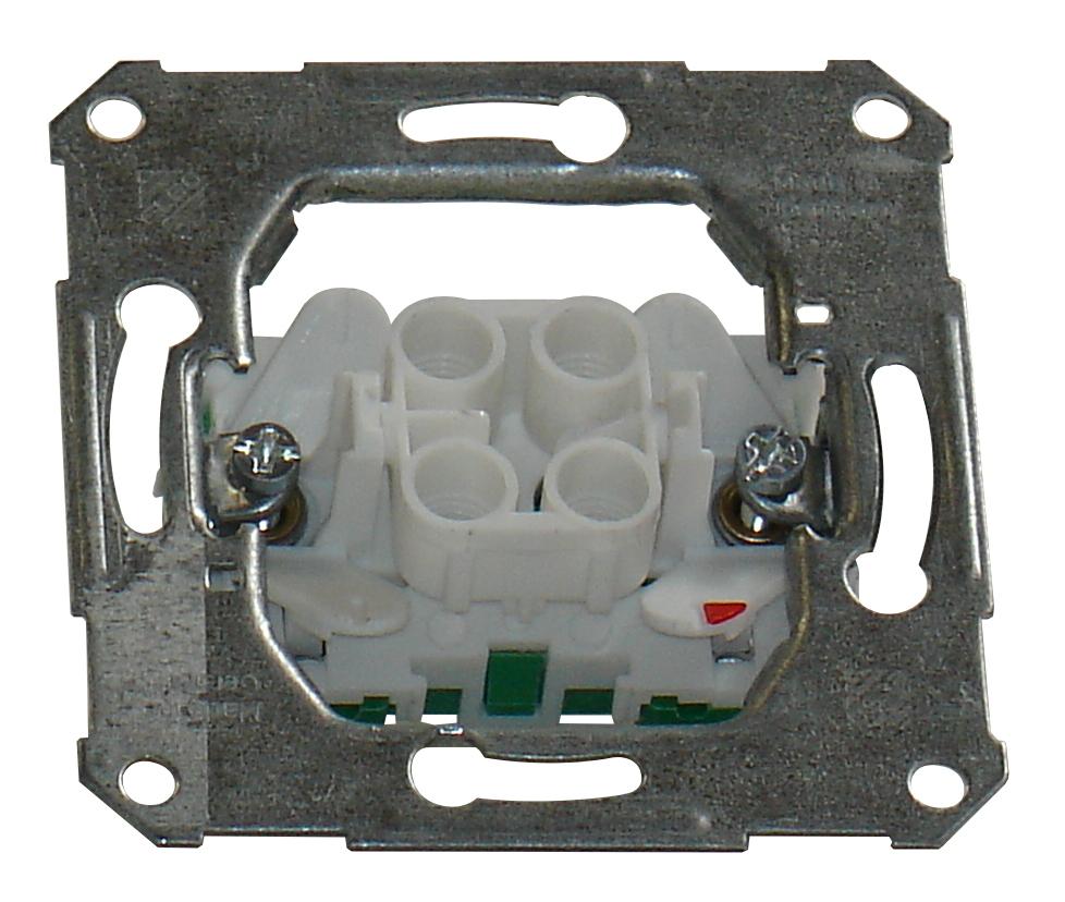1 Stk UP-Einsatz Ausschalter 2-polig Steckklemmen EL111200--