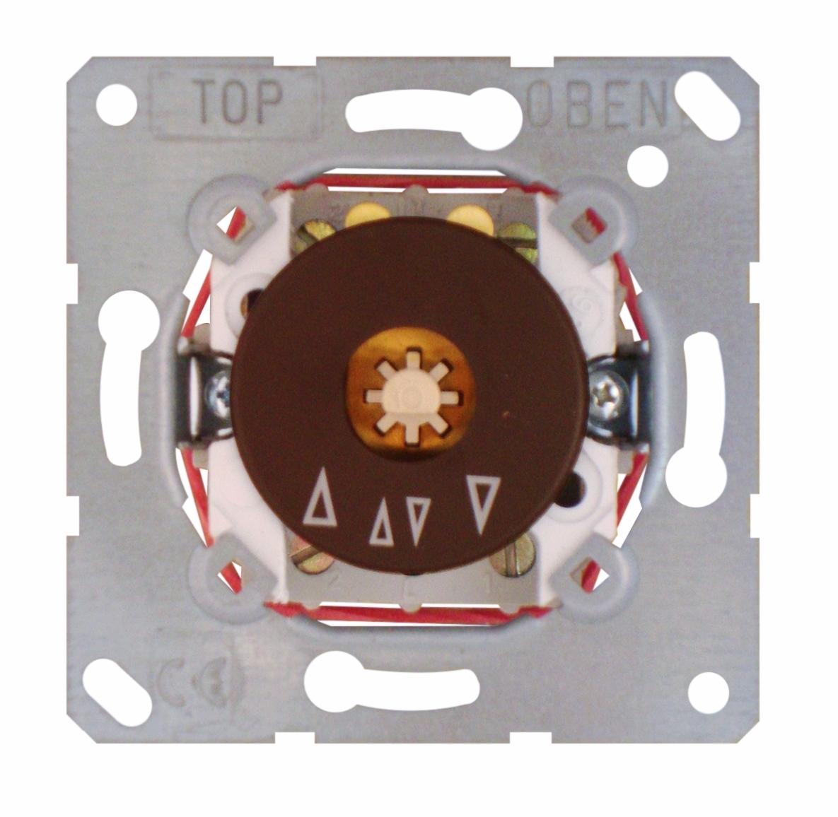 1 Stk UP-Einsatz Jalousie-Drehschalter 2-polig, 10 A 250 V~ (SK) EL121820--