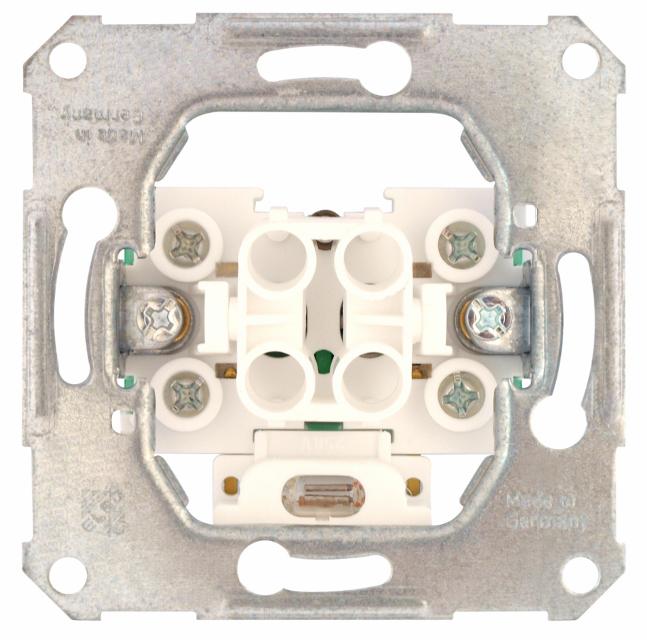 1 Stk UP-Taster mit Leuchtmarkierung und separatem N-Anschluss EL122610--
