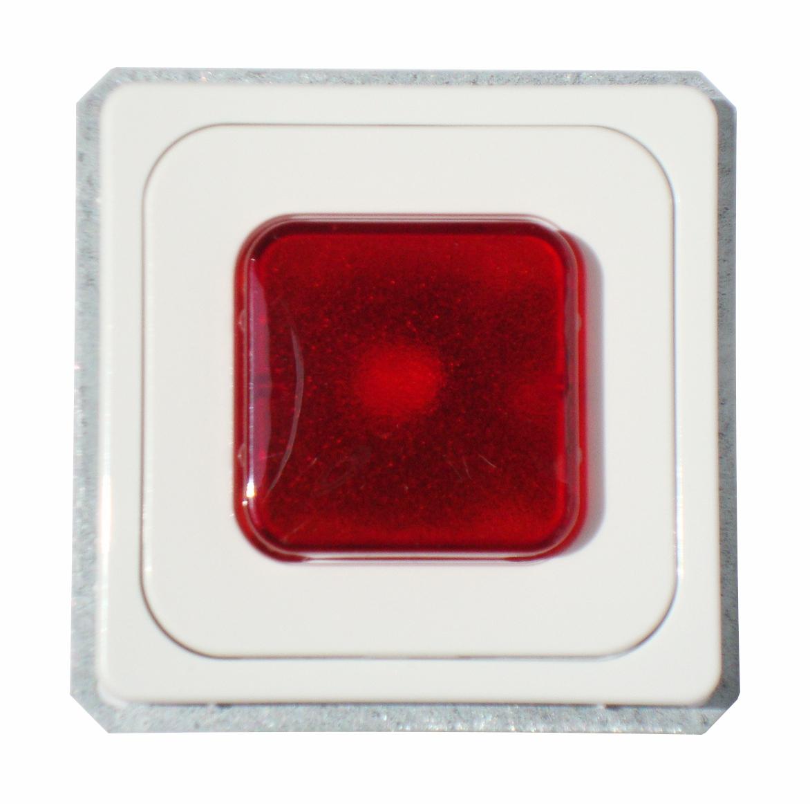 1 Stk UP-Paralleltaster E 10 mit Glimmlampe, Haube rot, rw EL202004--