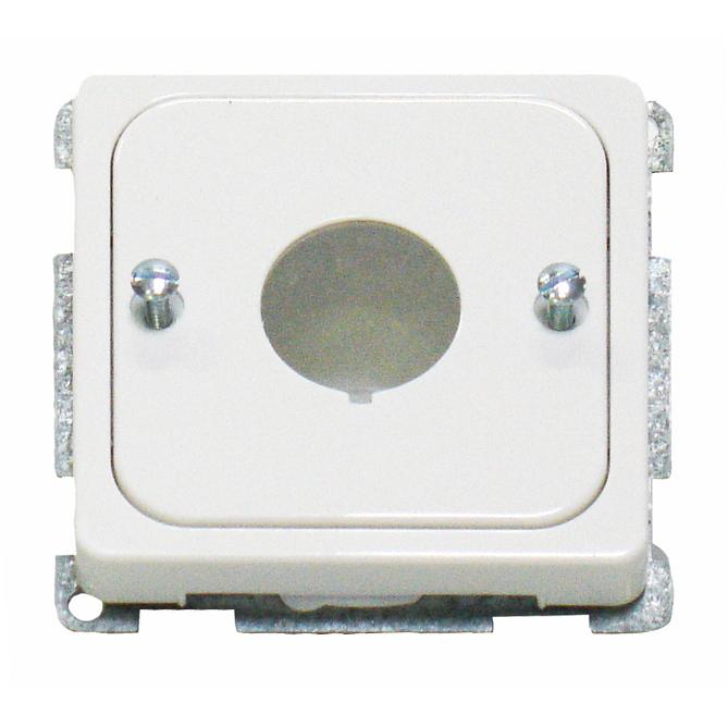1 Stk Zentralplatte für Befehlsgeräte mit 22,5mm Loch, perlweiß EL203060--